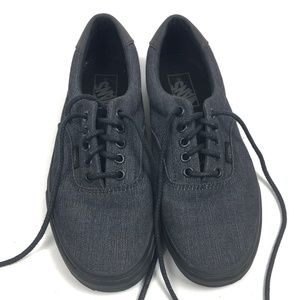 VANS ERA Dark Grey Canvas Lace Up Shoes